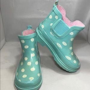 Cat & Jack Shoes - Toddler Girl Tiffany Polka Dot Rain Boots Size 7/8